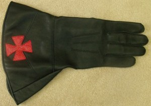 Knights Templar Leather Gauntlets